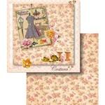 Papel Scrapbook Dupla Face Costura e Flores Lscd-363 - Litocart