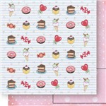 Papel Scrapbook Dupla Face Doces Sd-520 - Litoarte