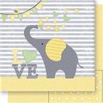 Papel Scrapbook Dupla Face Elefante Neutro Sd-409 - Litoarte