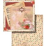 Papel Scrapbook Dupla Face Flores LSCD-286 - Litocart