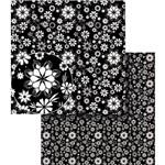 Papel Scrapbook Dupla Face Flores Preto e Branca Lscds-010 - Litocart