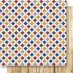 Papel Scrapbook Dupla Face Ladrilhos Coloridos Sd-525 - Litoarte