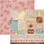 Papel Scrapbook Dupla Face Lembranças e Tags Cartões Sdf677 - Toke e Crie