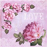 Papel Scrapbook Dupla Face Love e Rosas SD-423 - Litoarte