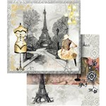 Papel Scrapbook Dupla Face Love Paris Lscd-349 - Litocart