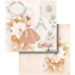 Papel Scrapbook Dupla Face Love Paris Rosa Lscd-347 - Litocart
