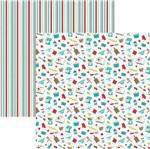 Papel Scrapbook Dupla Face Mini Básico 30,5x30,5cm Cozinha Utensílios SMB-023 – Toke e Crie By Ivana Madi