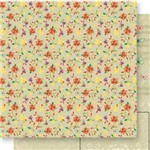Papel Scrapbook Dupla Face Mini Flores Sd-551 - Litoarte
