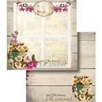 Papel Scrapbook Dupla Face Moment e Flores Lscd-356 - Litocart