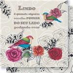 Papel Scrapbook Dupla Face Pássaros Rosas e Arabescos SD-416 - Litoarte