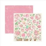 Papel Scrapbook Dupla Face Primavera Marshmallow Cestas Flores Sdf565 - Toke e Crie By Ivana Madi