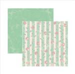 Papel Scrapbook Dupla Face Primavera Marshmallow Listras Sdf564 - Toke e Crie By Ivana Madi