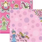 Papel Scrapbook Dupla Face Princesas Delicadas Unicórnio Sdf689 - Toke e Crie