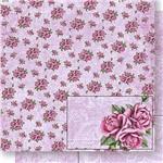 Papel Scrapbook Dupla Face Rosas e Arabescos SD-434 - Litoarte