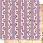 Papel Scrapbook Dupla Face Tiras de Flores Sd-559 - Litoarte