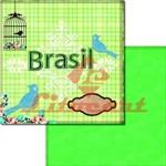 Papel Scrapbook Duplo Futebol Brasil LSCD-199 Litocart