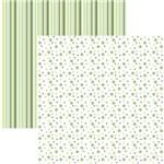 Papel Scrapbook Duplo Multitons Poá e Listras Grandes Verde Kfsb382 By Vlady ? Toke e Crie