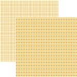 Papel Scrapbook Duplo Multitons Xadrez Mostarda KFSB376 By Vlady – Toke e Crie