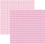 Papel Scrapbook Duplo Multitons Xadrez Rosa KFSB375 By Vlady – Toke e Crie