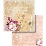 Papel Scrapbook Folha Dupla Cartão Postal e Flor LSCD-308 - Litocart