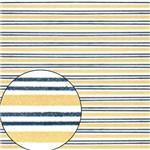 Papel Scrapbook Folha Simples Listras Azul e Amarelo LSC-210 - Litocart