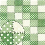 Papel Scrapbook Folha Simples Patchwork Verde Lsc-259 - Litocart