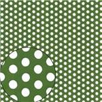 Papel Scrapbook Folha Simples Poá Verde LSC-208 - Litocart