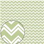 Papel Scrapbook Folha Simples Zig Zag Verde LSC-217 - Litocart