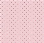 Papel Scrapbook Hot Stamping Litoarte SH30-013 30x30cm Poá Rosa Fundo Rosa