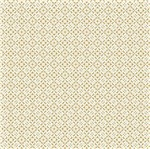 Papel Scrapbook Hot Stamping Litoarte SH30-031 30x30cm Renda Dourado Fundo Branco