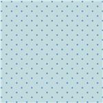 Papel Scrapbook Hot Stamping Litoarte SH30-014 30x30cm Poá Azul Fundo Azul