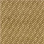 Papel Scrapbook Hot Stamping Litoarte SH30-016 30x30cm Listras Diagonais Dourado e Marrom