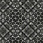 Papel Scrapbook Hot Stamping Litoarte SH30-034 30x30cm Renda Prata Fundo Preto