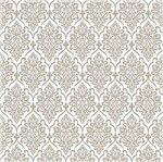 Papel Scrapbook Hot Stamping Litoarte SH30-041 30x30cm Floral Prata Fundo Branco