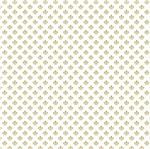 Papel Scrapbook Hot Stamping Litoarte SH30-052 30x30cm Flor de Lis Dourado Fundo Branco