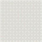 Papel Scrapbook Hot Stamping Litoarte SH30-035 30x30cm Renda Prata Fundo Branco