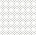 Papel Scrapbook Hot Stamping Litoarte SH30-056 30x30cm Flor de Lis Prata Fundo Branco