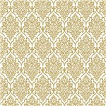 Papel Scrapbook Hot Stamping Litoarte SH30-036 30x30cm Floral Dourado Fundo Branco