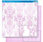 Papel Scrapbook Litoarte 30,5x30,5 SD-025 Provençal Rosa