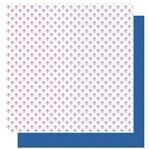 Papel Scrapbook Litoarte 30,5x30,5 SD-1006 Amor Je T' Aime Flor de Lis e Poá