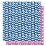 Papel Scrapbook Litoarte 30,5x30,5 SD-1007 Amor Je T' Aime Nuvem Coração