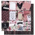 Papel Scrapbook Litoarte 30,5x30,5 SD-1008 Amor Love Story Tags e Verso Madeira