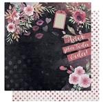 Papel Scrapbook Litoarte 30,5x30,5 SD-1009 Amor Love Story Flores e Verso Poá