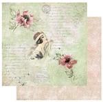Papel Scrapbook Litoarte 30,5x30,5 SD-1055 Flores Dama