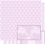 Papel Scrapbook Litoarte 30,5x30,5 SD-461 Renda e Listras Rosa