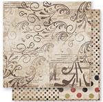 Papel Scrapbook Litoarte 30,5x30,5 SD-251 Arabescos e Frases