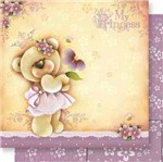 Papel Scrapbook Litoarte 30,5x30,5 SD-558 Ursinha My Princess