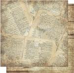 Papel Scrapbook Litoarte 30,5x30,5 SD-566 Página Bíblia e Madeira