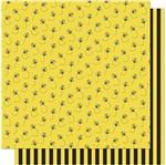 Papel Scrapbook Litoarte 30,5x30,5 SD-579 Abelhas