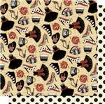 Papel Scrapbook Litoarte 30,5x30,5 SD-587 Sapatos e Bolsas